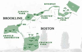 Emerald Necklace, Charles River & Boston Harbor
