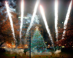 Boston Common Tree Lighting Ceremony