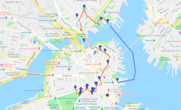 Boston Outdoors Freedom Trail Map