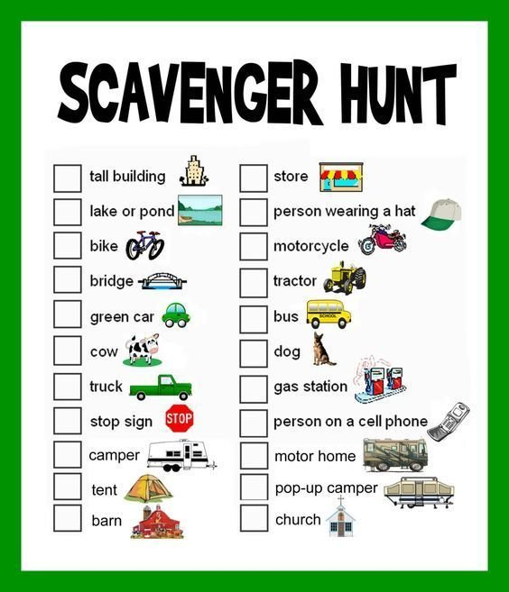 Scavenger Hunt Lists for Kids