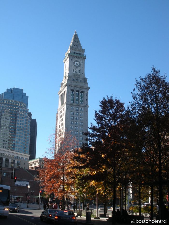 Customs House Clock Tower Boston