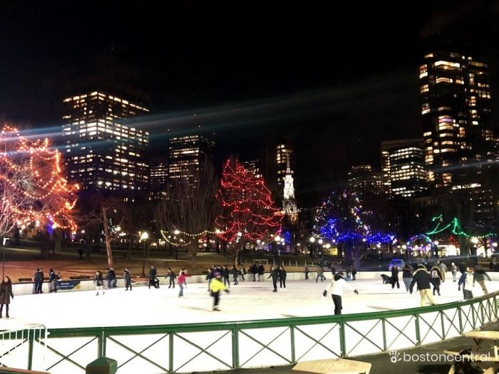 Boston Common Ice Skating Frog Pond
