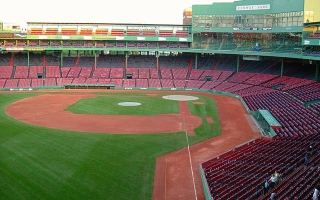 Fenway Park View from Green Monster April in Boston