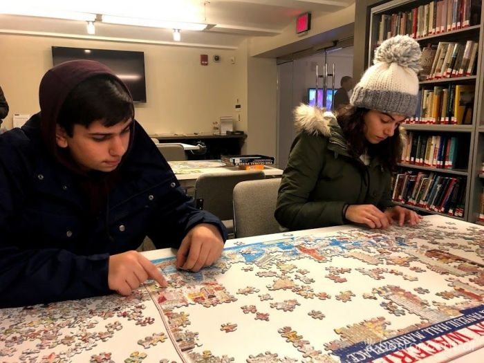 Boston Public Library Map Room Puzzle with Kids