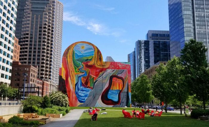 Dewey Square Mural Boston Greenway