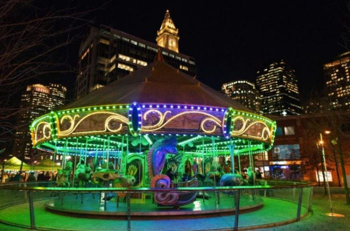 Boston Holiday Lights Greenway Carousel
