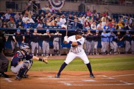 bridgeport bluefish minor league baseball photo