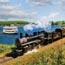 essex steam train  riverboat photo