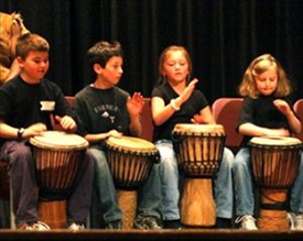 african drumming birthday party with rhythmkids photo