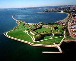 castle island and fort independence photo