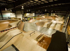 rye airfield indoor skate park photo