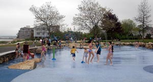 nelson park splash pad under construction photo