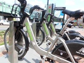 the hubway boston bike sharing photo