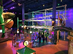 beanstalk ropes course at jordan's furniture photo
