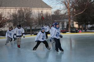 ice skating at stoneham town common rink photo