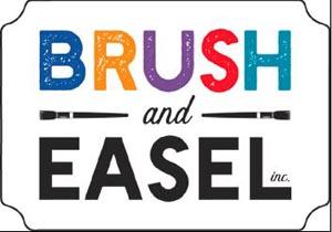 brush and easel art studio photo