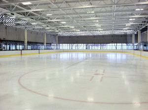 steriti ice rink in boston's north end photo