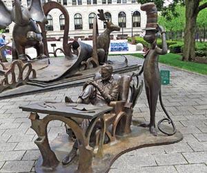 Dr Seusore In Springfield M The Suess Memorial Sculpture Garden