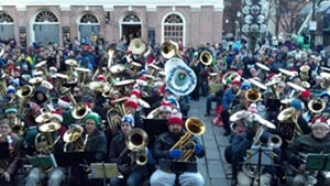 boston christmas tubas at faneuil hall 2019 photo