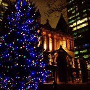 Copley Square Tree Lighting 2016