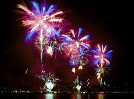 rescheduled grand fireworks display over gloucester harbor photo