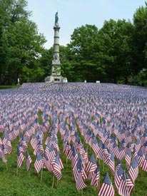 military heroes garden of flags on the boston common 2021 photo