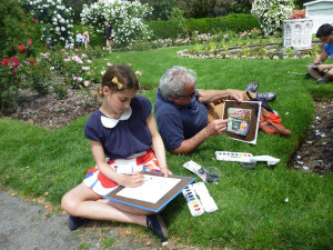 parkarts summer watercolor painting workshops 2021 photo