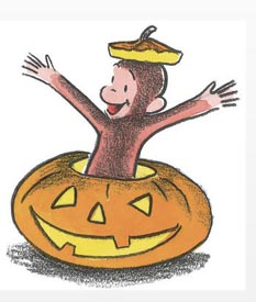 halloween story time with curious george