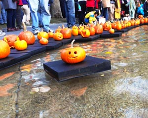 Fall Pumpkin Float Festival at Frog Pond