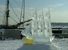 salems so sweet chocolate  ice sculpture festival photo