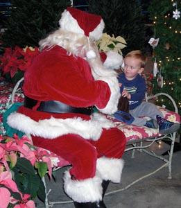 visit with santa at verrill farm photo