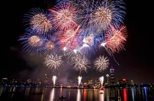 illuminate the harbor boston pre-labor day fireworks photo