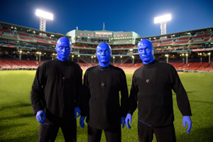 blue man group red sox themed shows - buy 1 get 1 tix photo
