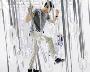 choreographic objects exhibit at the ica william forsythe photo