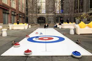 Curling at the Liberty Hotel