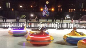 ice rink bumper cars at alex  ani city center photo