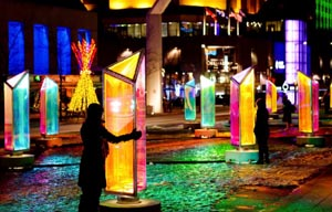prismatica - bright lights for winter nights at the seaport photo