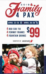 red sox family 4 pax at fenway photo