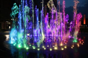 summer light shows at rings fountain photo