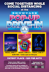 pop-up drive-in movie experience at patriot place photo