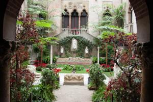 courtyard holiday garden at the isabella gardner museum temp closed photo
