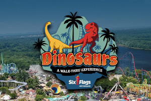 dinosaurs a walk-thru experience at six flags new england photo