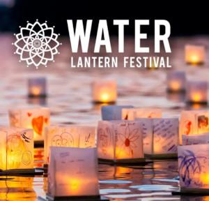water lantern festival photo