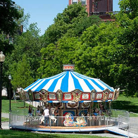 carousel rides on the boston common photo