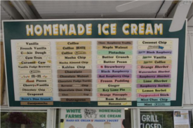 white farms homemade ice cream photo